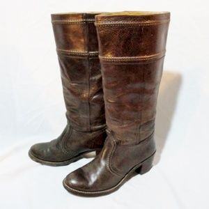 FRYE Leather 77231 Western Cowboy Boots